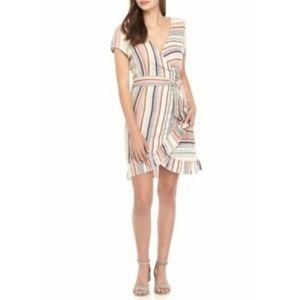 Free People Women's Wrap It Up Stripe Dress NWT